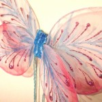 butterfly pink blue