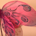 butterfly wing hot pink